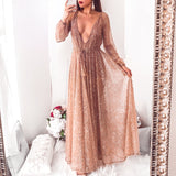 Nala Glitter Dress - Rose Gold