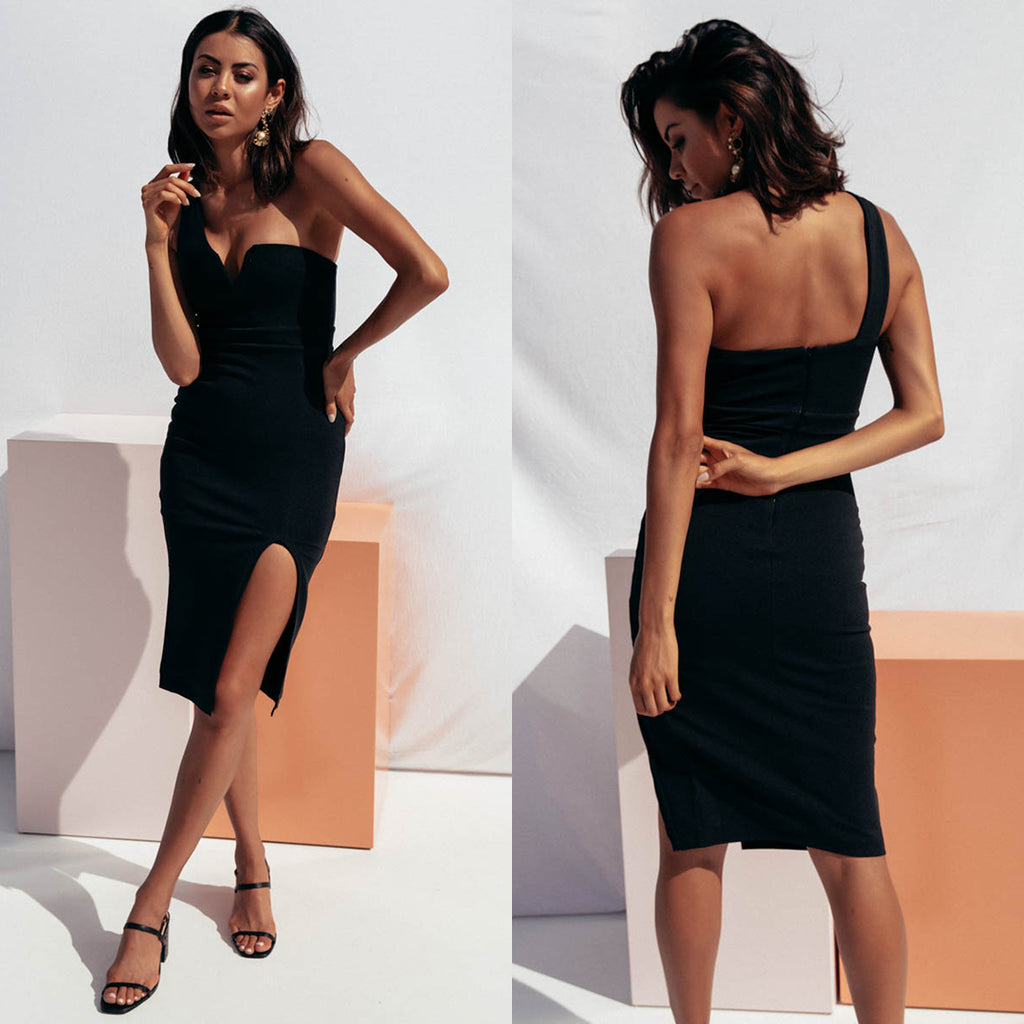 Emma Midi Dress - Black