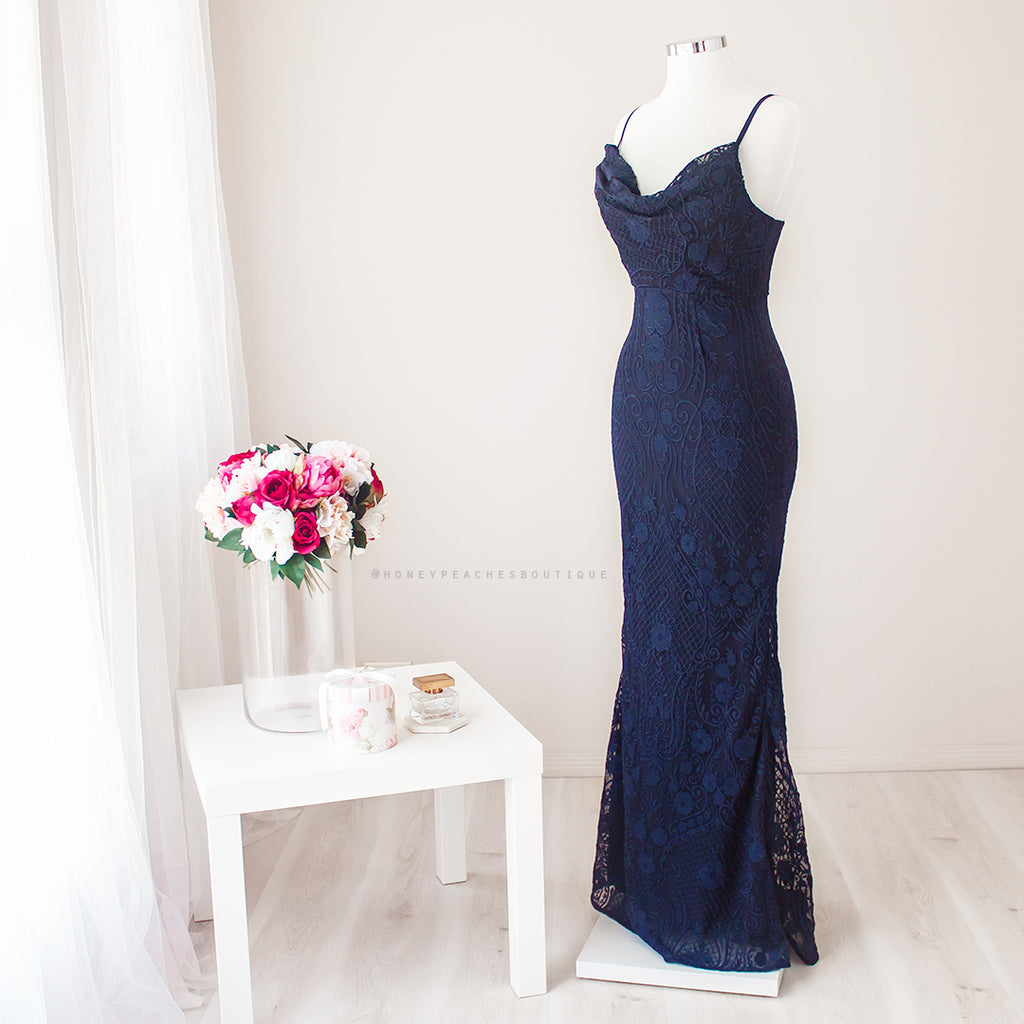 Zoella Maxi Dress - Navy