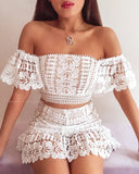 Leena Crop Top - White