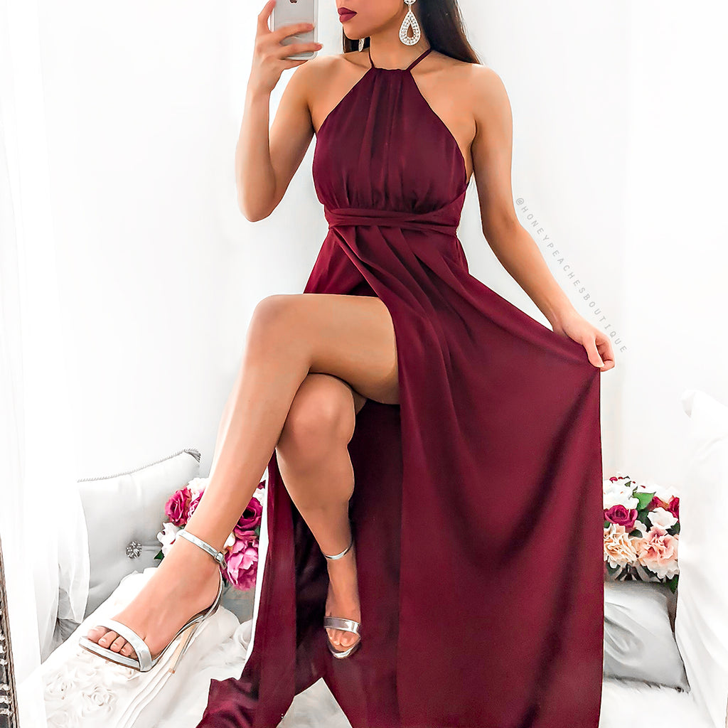 Pre-Order: Loving You Is Easy Maxi Dress - Wine