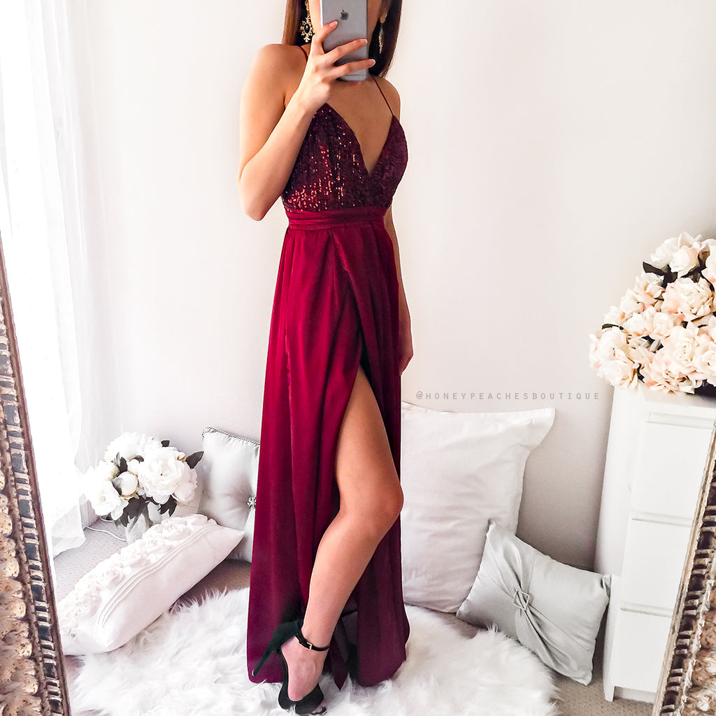 Power Of Love Maxi Dress - Maroon