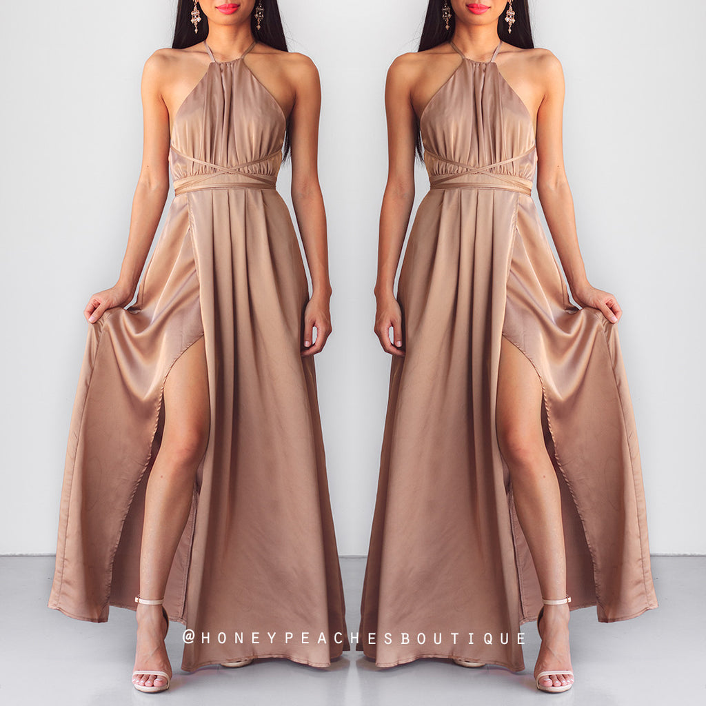 Loving You Is Easy Maxi Dress - Mocha