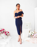 Art Of Love Midi Dress - Navy