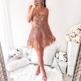 Love Conquers Mini Dress - Mocha