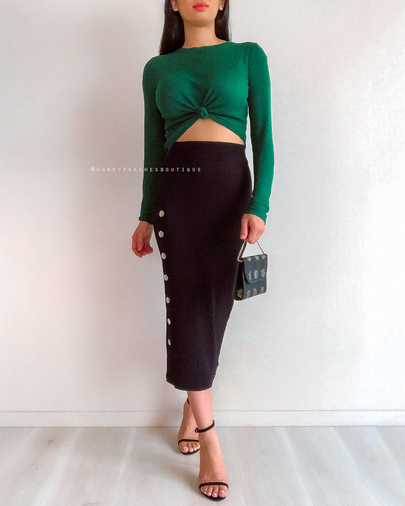 Alex Knit Top - Emerald Green