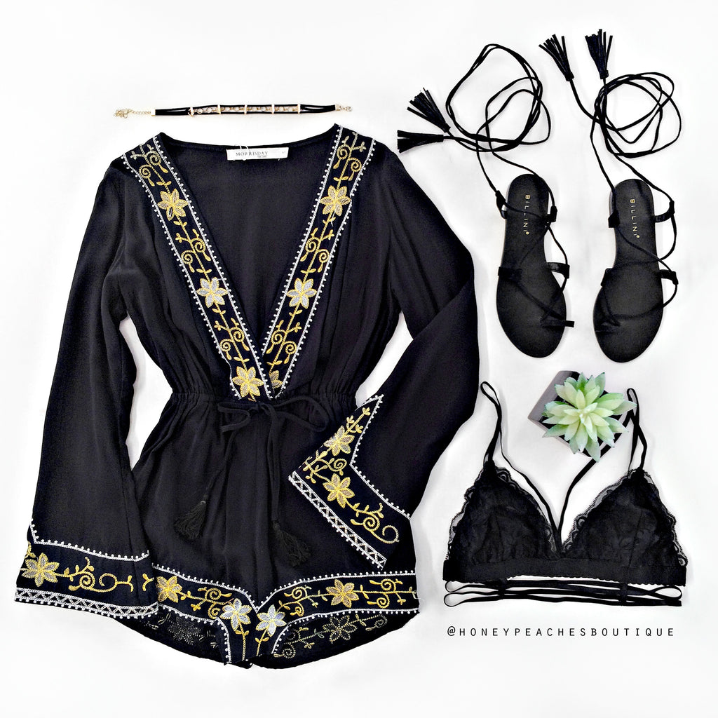 Devoted To You Playsuit - Black