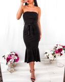 Sophie Midi Dress - Black