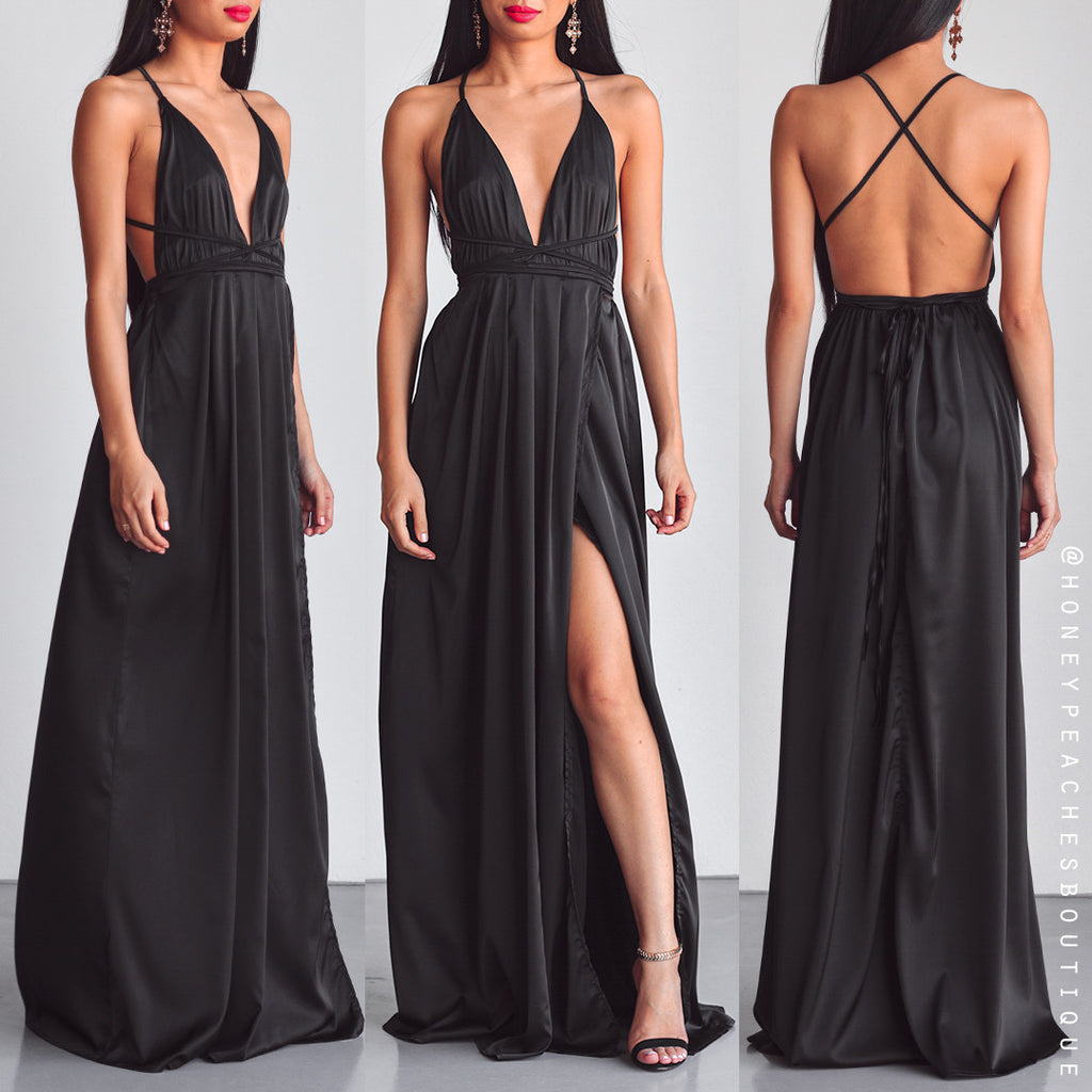 The Way I Love You Maxi Dress - Black