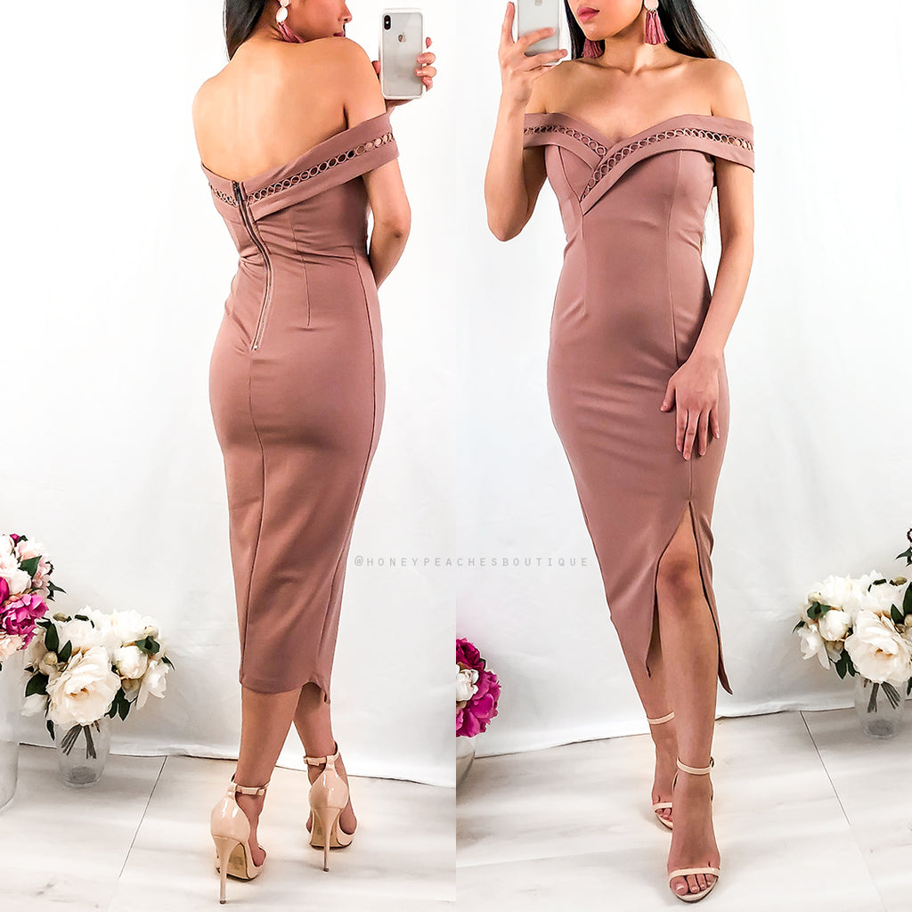 59eefd220f9e Just Be Mine Midi Dress - Dusty Pink – Honey Peaches