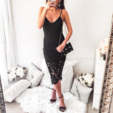 Pure Perfection Midi Dress - Black