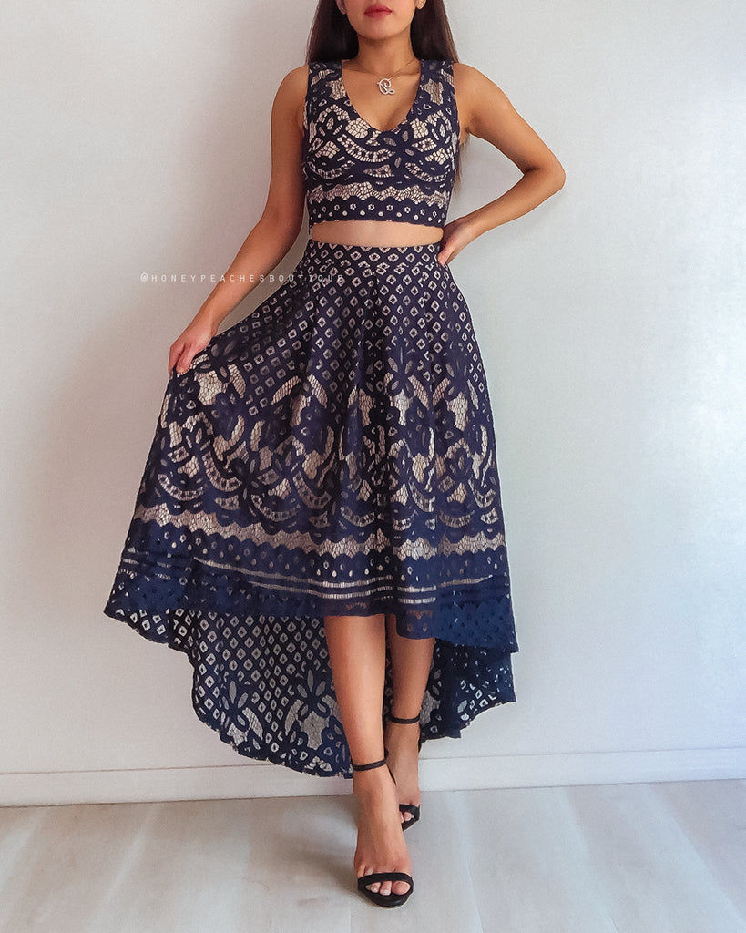 Madelyn Two Piece Set - Navy