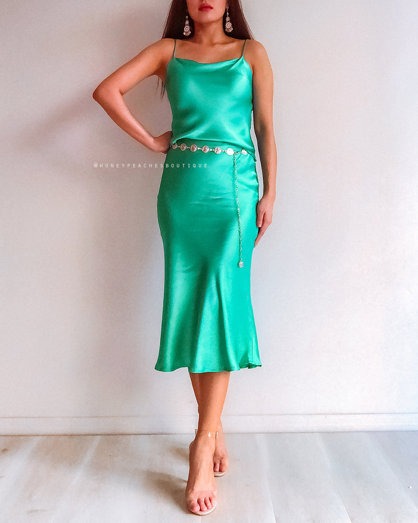 Jasmine Dress - Jade Green