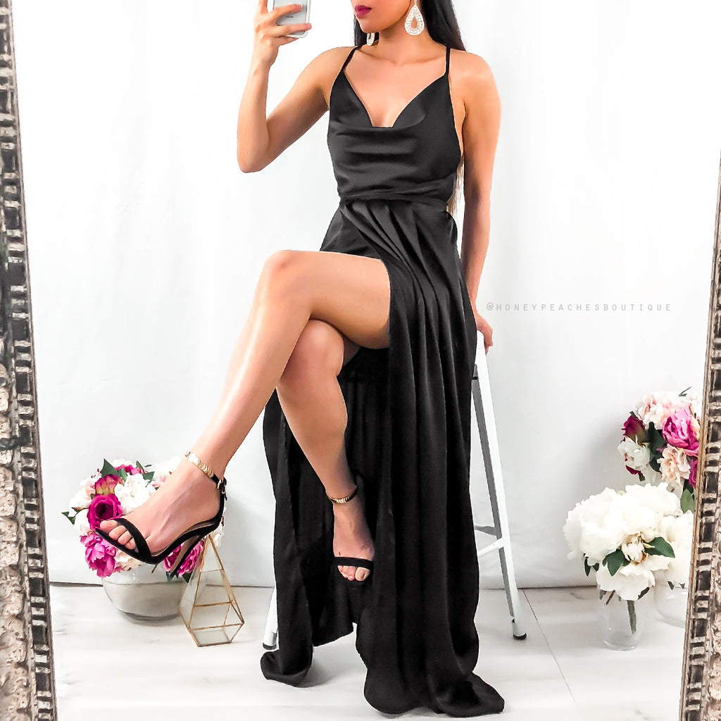 Made to Order: Samira Maxi Dress - Black