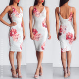Love Hurts Midi Dress - White Floral
