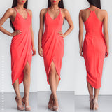 Slow Dancing Dress - Neon Coral