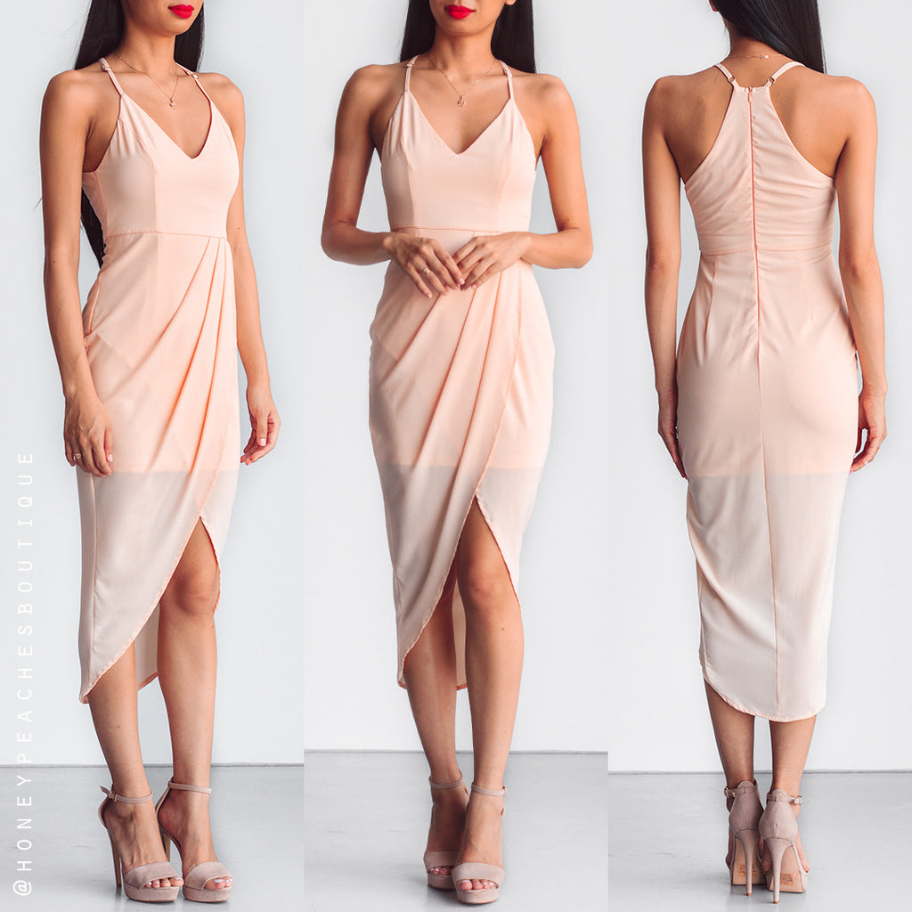 Slow Dancing Dress - Peach