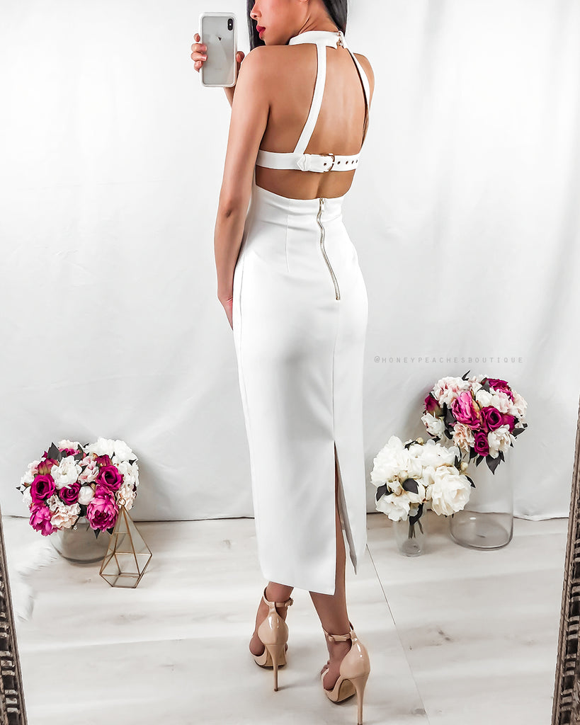 Persephone Midi Dress - White