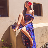 Bali Escape Maxi Dress - Navy