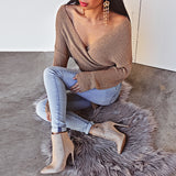 Sarina Stone Suede Ankle Boots by Billini