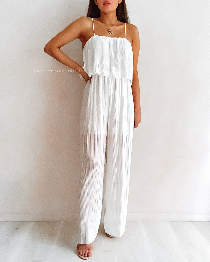 Georgia Jumpsuit - White