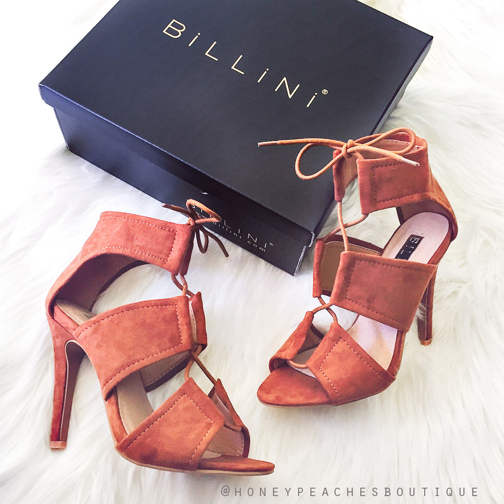 Orto Tan Suede Heels by Billini