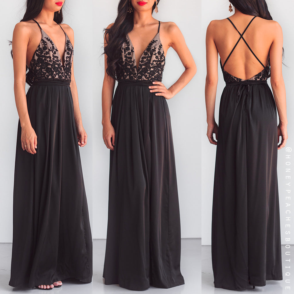 Star Of The Show Maxi Dress - Black