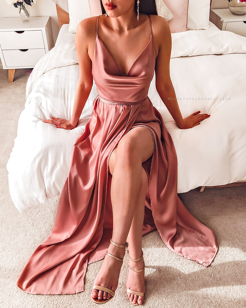 Pre-Order: Samira Maxi Dress - Dusty Pink