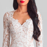 Feel The Love Lace Maxi Dress - White