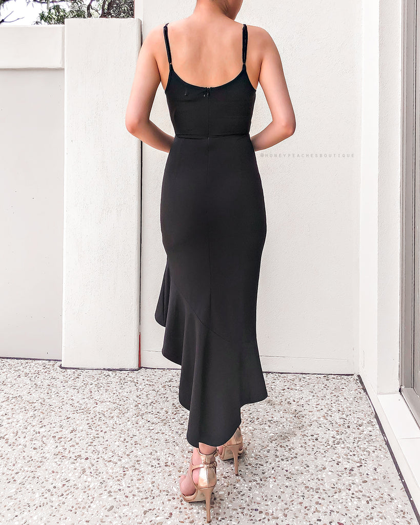 Claudia Midi Dress - Black