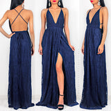 Infinite Love Lace Maxi Dress - Navy