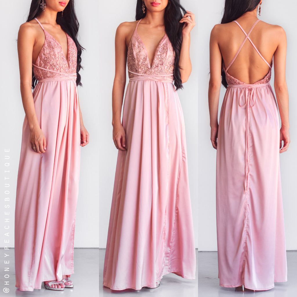 Star Of The Show Maxi Dress - Pink