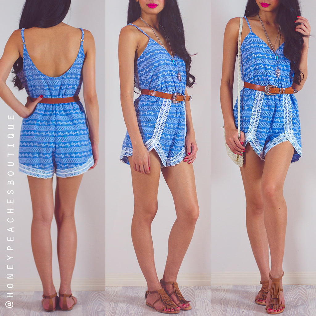 Somebody To Love Playsuit - Blue