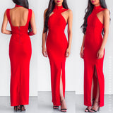 Love Is A Spark Maxi Dress - Red
