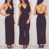 Don't Walk Away Jumpsuit - Black