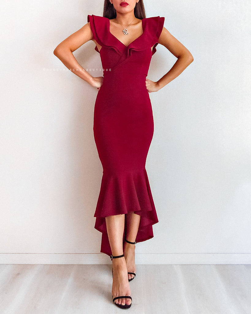 Esmeralda Dress - Maroon