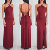 Starry Eyed Maxi Dress - Maroon