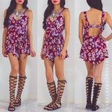 Until We Collide Floral Playsuit