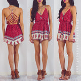 Forever Mine Playsuit - Red Print