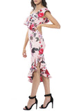 Alessandra Midi Dress - Pink Floral