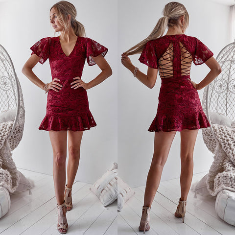 Tiana Dress - Maroon