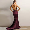 Athena Gown by Jadore - Deep Burgundy
