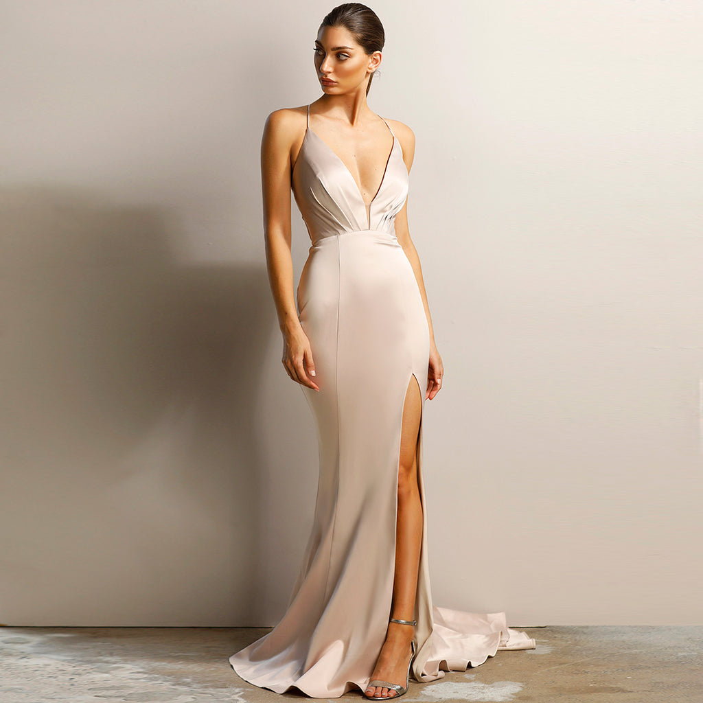 Athena Gown by Jadore - Oyster
