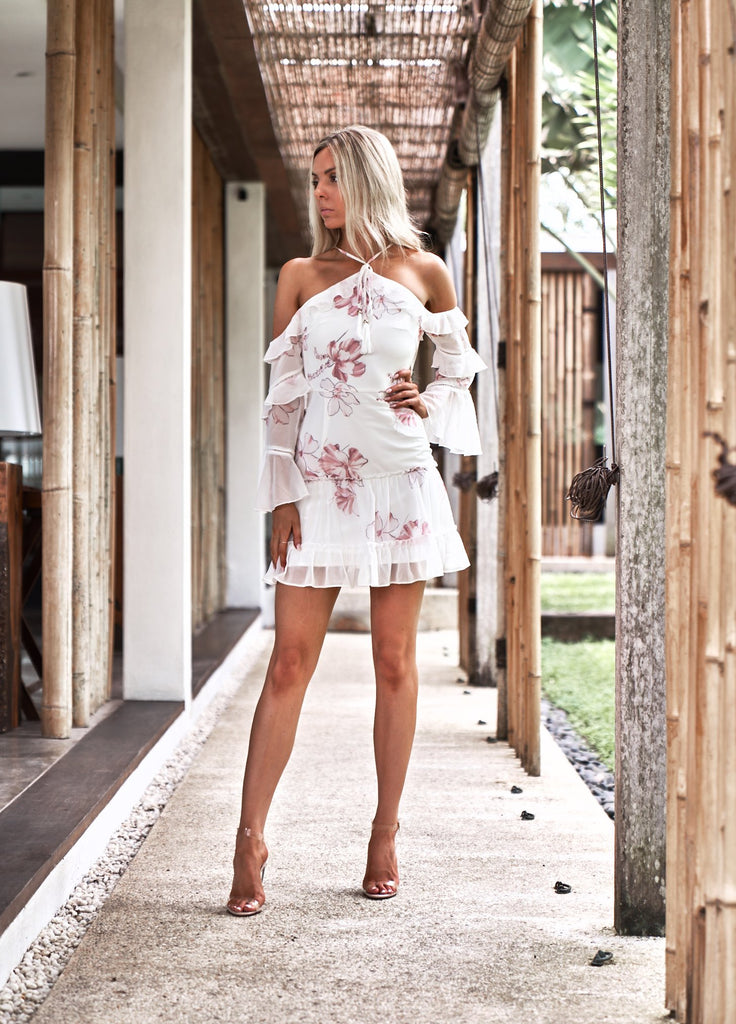 Avery Dress - White Floral