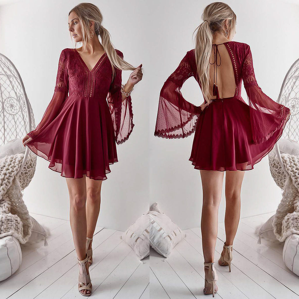 Bethany Dress - Maroon
