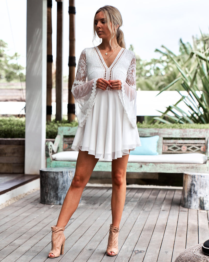 Pre-Order: Bethany Dress - White