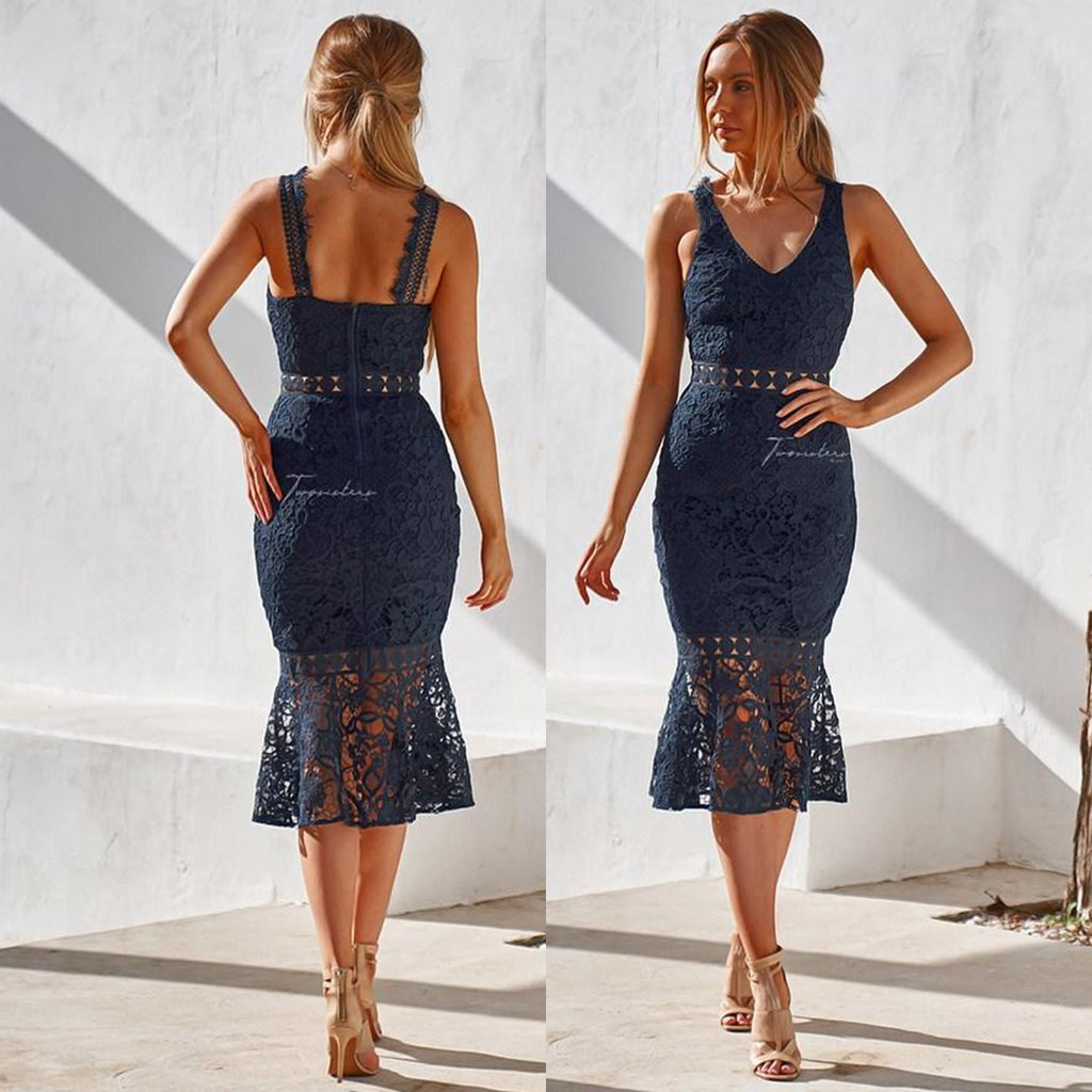 Brittany Dress - Navy