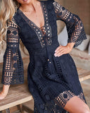 Aurora High Low Dress - Navy