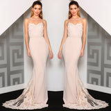 Celestine Lace Gown by Jadore - Nude