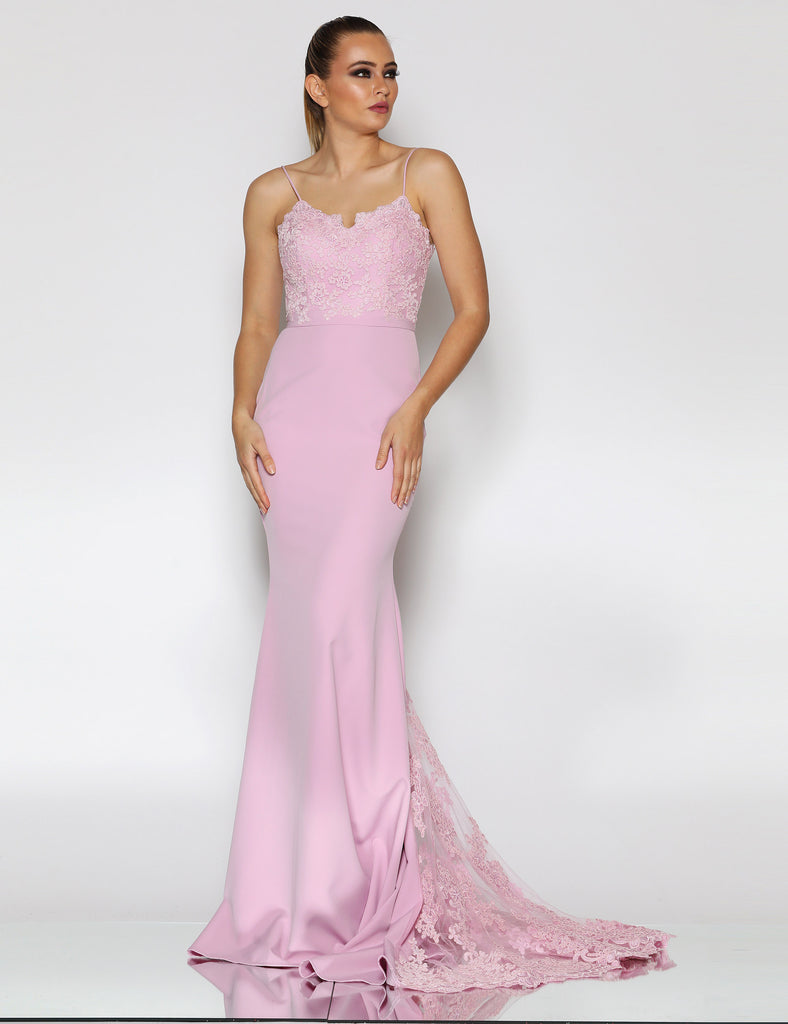 Made To Order: Celestine Lace Gown by Jadore